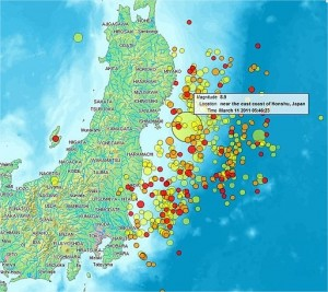 Japan 2011 Earthquake location