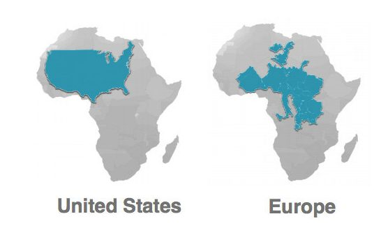 World Map Real Size Of Countries.Prettejohn Net The Real Size Of Countries